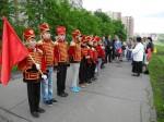 Отряд имени И. С. Дорохова на построении перед отъездом в Верею